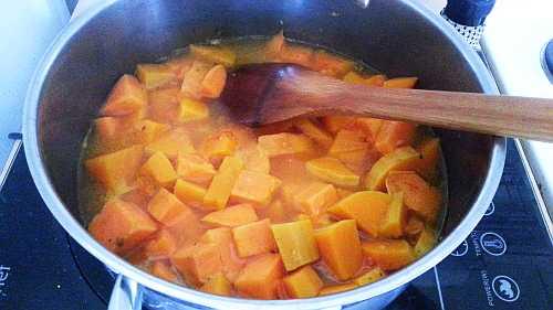 Butternut and sweet potato soup