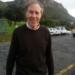 Prof Tim Noakes outside CCFm this morning