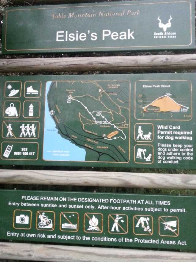 Elsies Peak sign