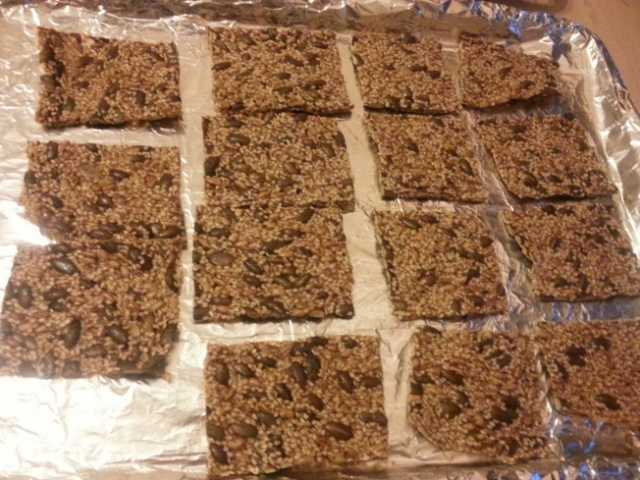 Square Low Carb Seed Crackers