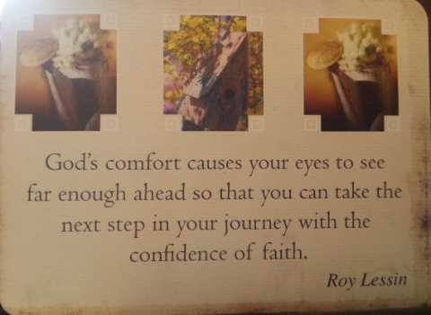 God gives us confidence in the next step
