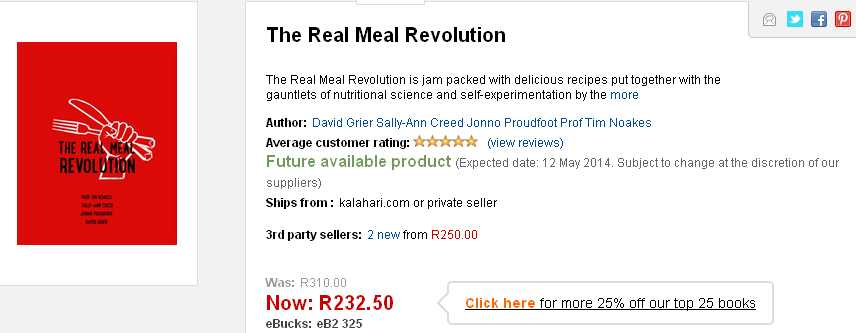 Real meal revolution on kalahari.net