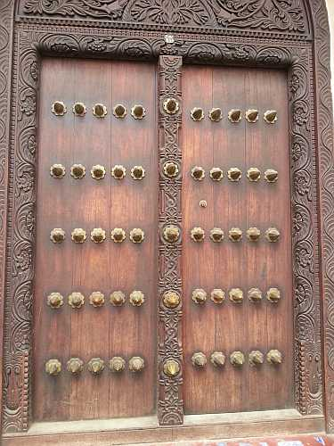 Doors with spikes meant Royalty lived there