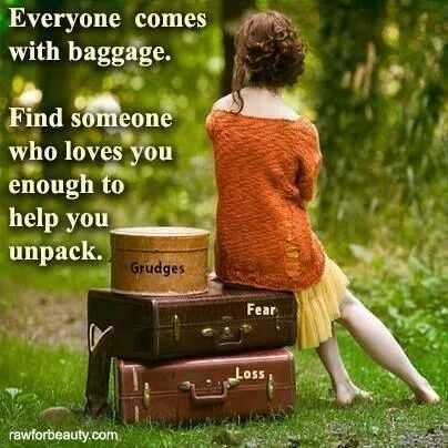 Friends help you unpack the baggage
