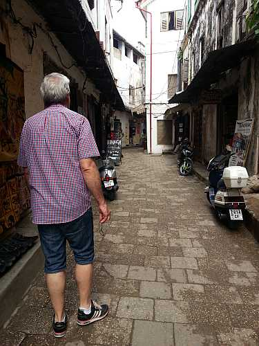 Walking through Stone Town