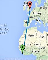 Monrovia to London