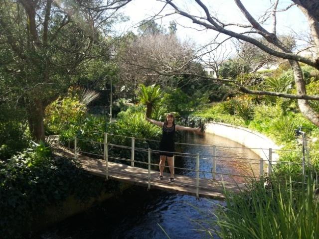 Sue on the bridge