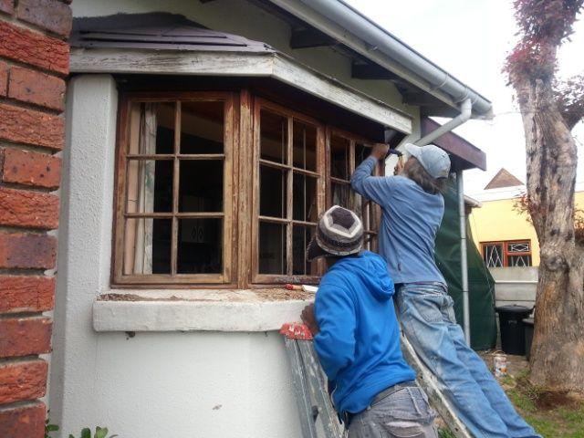 Windows being done