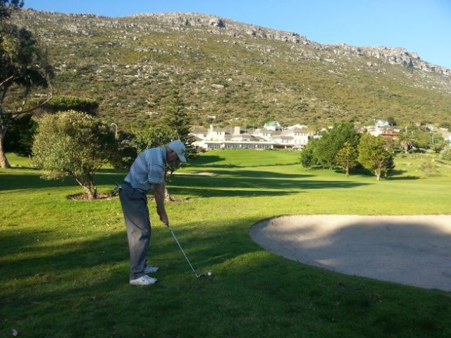 Mike's second shot on the 18th at Clovelly