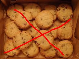 Biscuits crossed out