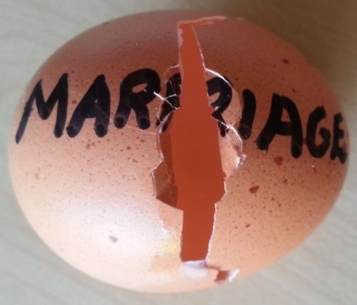 Cracked marriage egg
