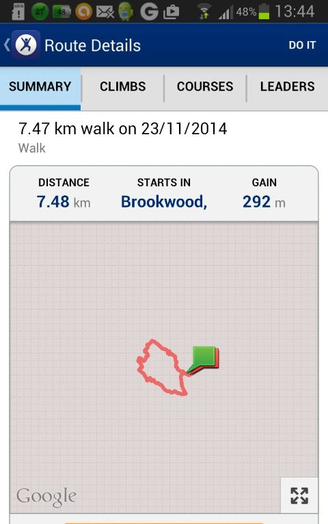 Map my fitness route