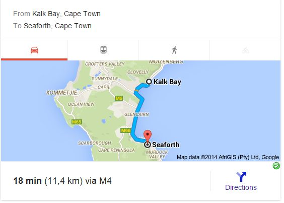 Kalk Bay to Seaforth
