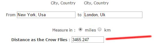 New York To London distance