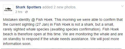 Shark spotters message