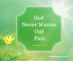 God never wastes our pain
