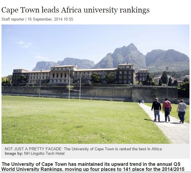 UCT number 1 in Africa